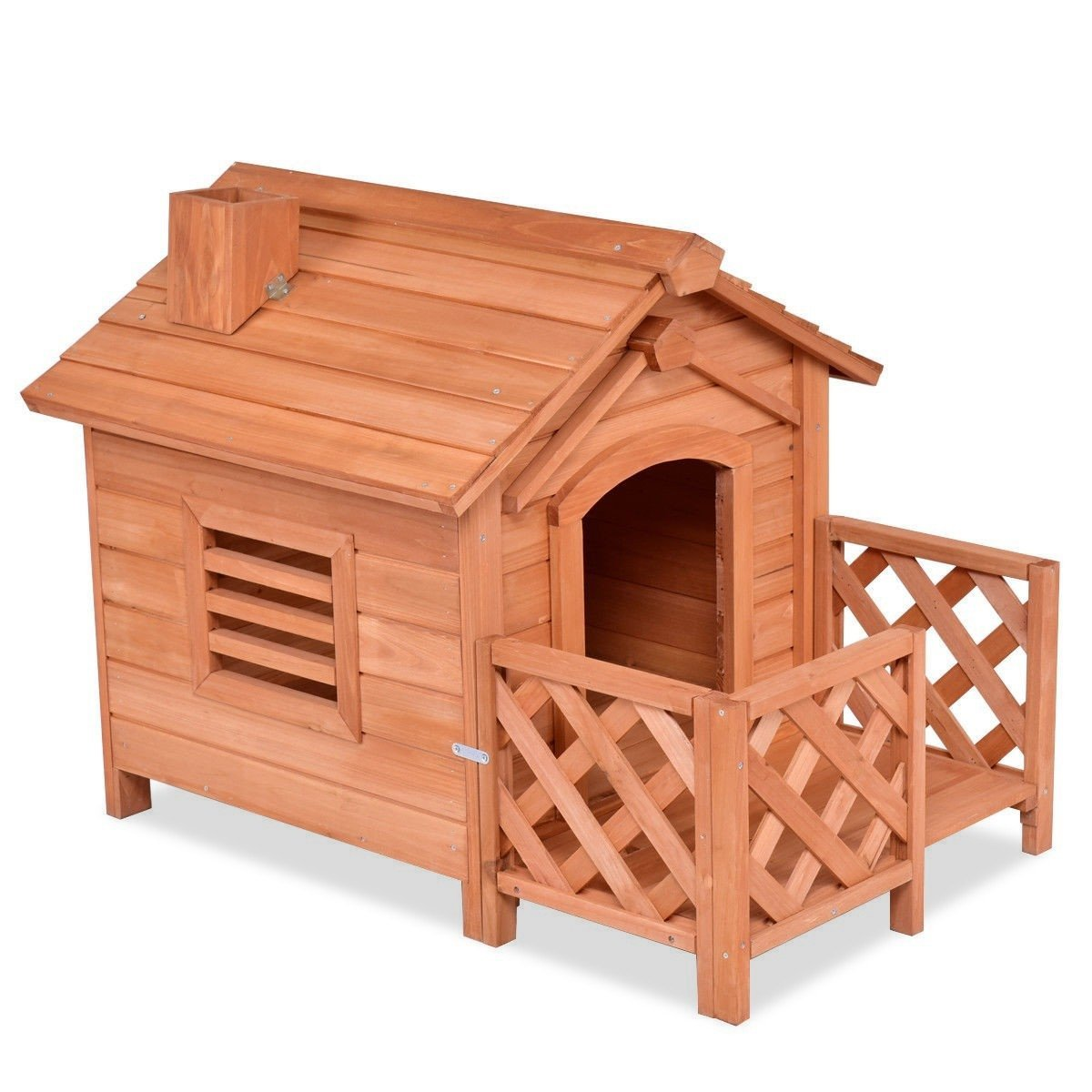 Primary image for Outdoor Natural Fir Wood Dog House for Small Dogs
