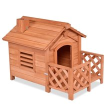 Outdoor Natural Fir Wood Dog House for Small Dogs - $255.15