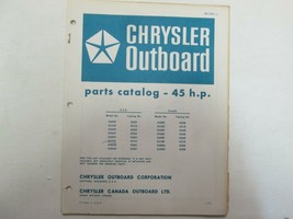 1973 Chrysler Outboard 45 HP Parts Catalog Manual Factory OEM OB 1692-1 *** - $9.89
