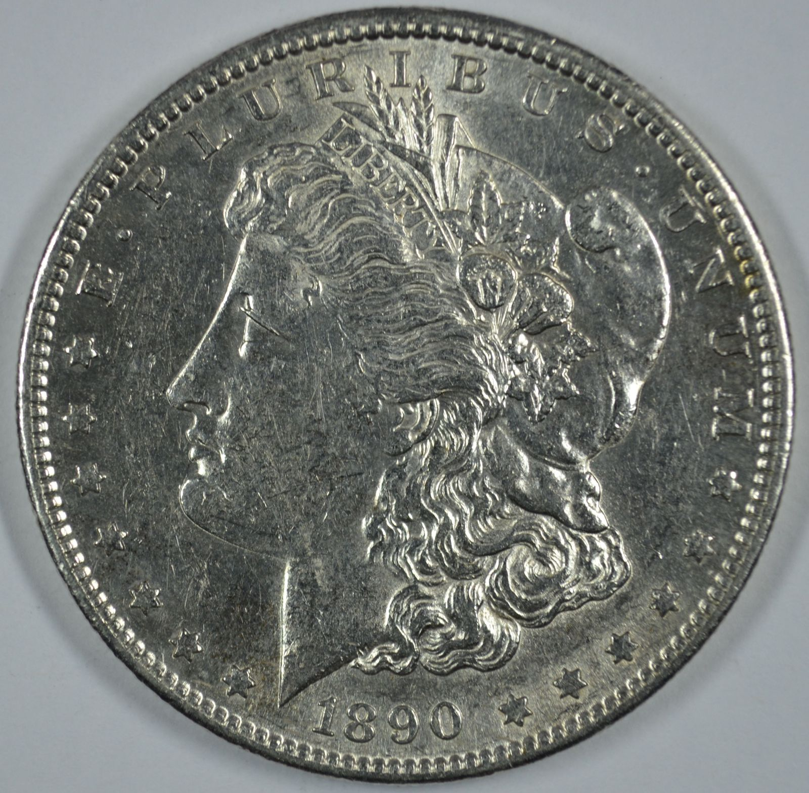 Primary image for 1890 S Morgan circulated silver dollar XF details