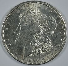 1890 S Morgan circulated silver dollar XF details  - $42.50