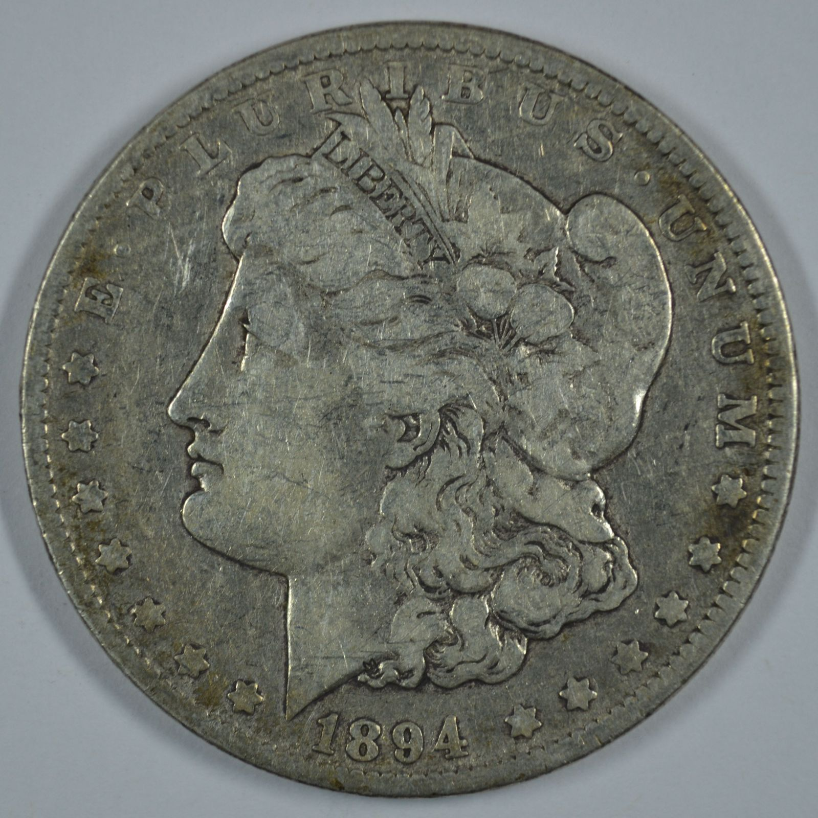 Primary image for 1894 O Morgan circulated silver dollar - VG details