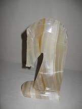 Trojan Horse Bust Head Marble Onyx? Alabaster? Book End - $12.95