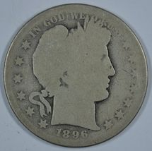 1896 S Barber circulated silver half  - $57.50