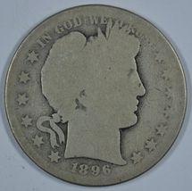 1896 S Barber circulated silver half  - $57.50