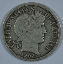 1902 O Barber circulated silver dime - F+ details - $24.00