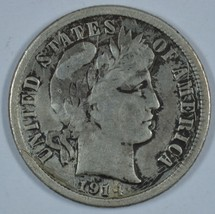 1914 S Barber circulated silver dime - F details - $16.50