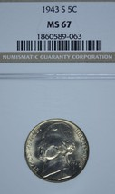 1943 S Jefferson silver nickel NGC MS 67 - $53.00