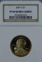 2001 S Sacagawea Proof dollar NGC PF 69 Ultra Cameo - $16.50