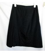 Odille Black Polyester Skirt 8 Side Zipper Button Waist 30 Inch Machine ... - $16.65