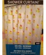 Creative Bath Products Yellow Ducks Google Eyes Shower Curtain & Hooks B... - $24.99