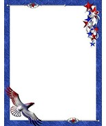 NEW Red White & Blue Flying Eagle Letterhead Stationery Paper 26 Sheets - $7.99