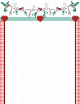 New Heart Floral Letterhead Stationery Paper 51 Sheets [Office Product] - $14.24