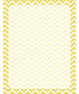 NEW Yellow Chevron Print Letterhead Stationery Paper 26 Sheets [Office P... - $7.99