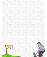 NEW Golf Letterhead Stationery Paper 26 Sheets [Health and Beauty] - $7.99