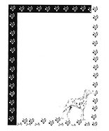 New Dalmatian Dog Letterhead Stationery Paper 51 Sheets [Office Product] - $15.19