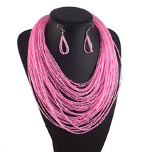 Multilayer Beads Necklace Jewelry Women Accessories Fashion Necklace earrings JP - $21.99