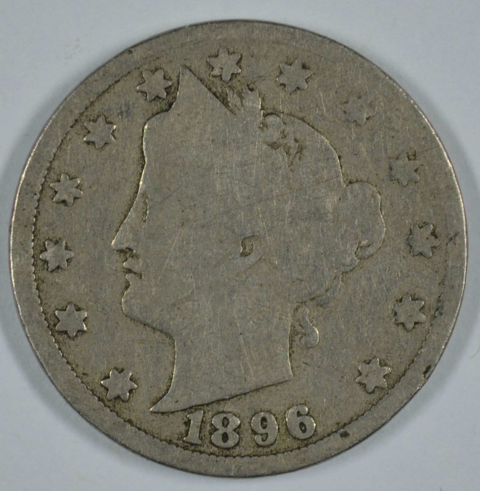 Primary image for 1896 Liberty Head circulated nickel