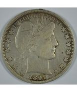 1897 P Barber circulated silver half - XF details - $190.00