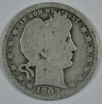 1903 P Barber circulated silver quarter - $10.50