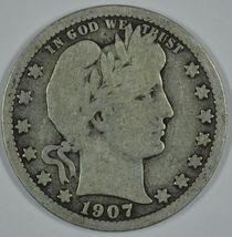 1907 O Barber circulated silver quarter - $16.00