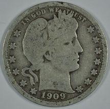 1909 D Barber circulated silver quarter - $13.00