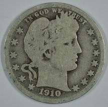 1910 D Barber circulated silver quarter - $14.50