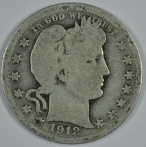 1912 P Barber circulated silver quarter - $12.00
