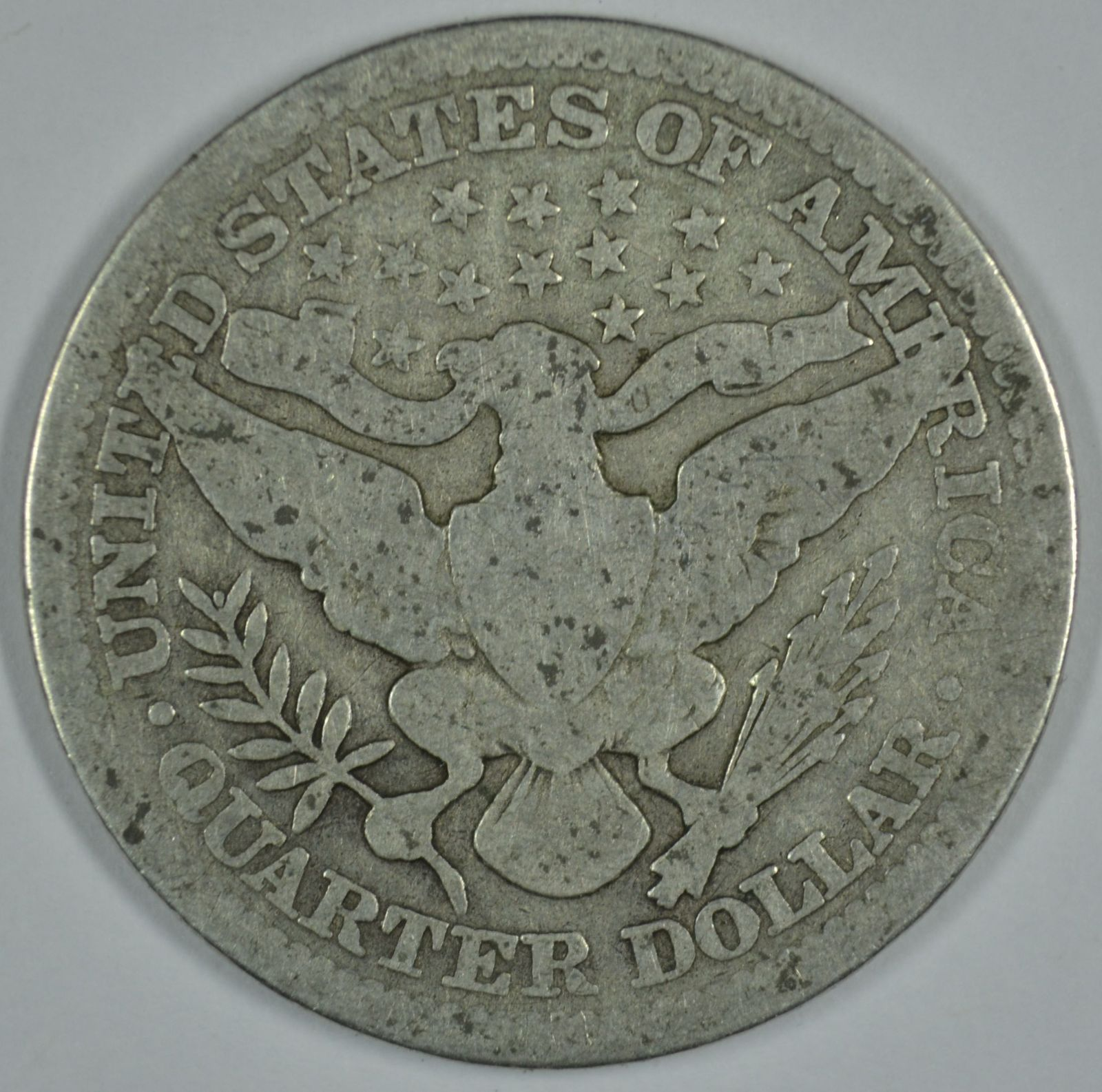 1912 P Barber circulated silver quarter
