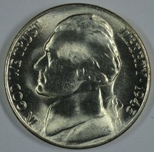 1945 S Jefferson uncirculated silver nickel BU  - $12.50