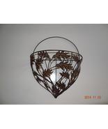 Metal Wall basket Fall leaves China. Thanksgiving Decorative  - $27.89