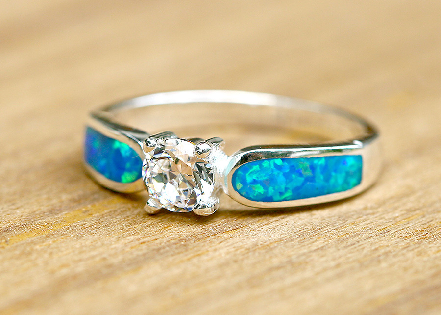 birthstone wedding rings engagement ring opal ring geode ring october birthstone 1799