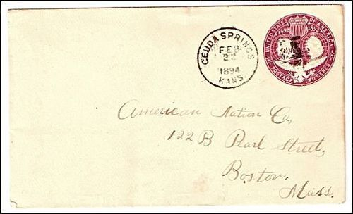 Primary image for 1894 Geuda Springs KS Discontinued/Defunct (DPO) Post Office Postal Cover - RARE