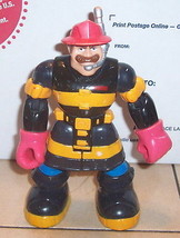 Vintage 2001 Fisher Price Rescue Heroes Fire Fighter Action Figure - $9.90