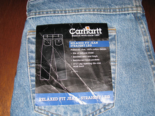 Mens Carhartt Relaxed Fit Straight Leg Blue Jeans Size 30 x 32 NWT