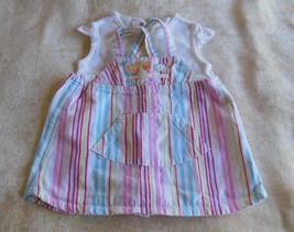 Carter's 2 piece baby dress set top & Bib dress size 6 mo. - $7.91