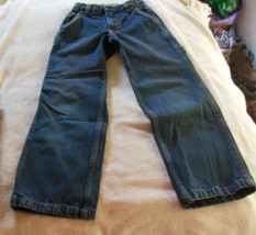 Cherokee Carpenter Fit Boys Denim Jeans Adjustable Waistband - Size 8S - $19.30