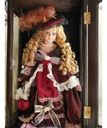 Crimson Collection Doll with Wood/PlexiGlass Case Cert. of Auth. - $75.00