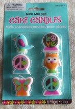 Hippie Chick Mini Molded Cake Candles (6 pcs.) - €7,23 EUR