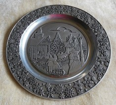 Vintage Wilton Columbia USA Holiday Collectible Pewter Plate 1980 - $34.65