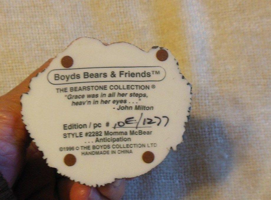 Momma McBear-Anticipation -Boyds Bears Expectant Mother Bearstone #2282