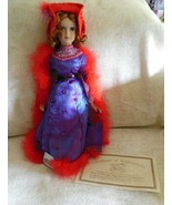The Heritage Signature Collection Doll Porcelain Collector Raquel Red Hat - $37.62