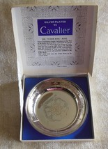 "The ""Tudor Rose"" Bowl Silver Plated by Cavalier 4 3/4"" in diameter and 1... - $44.55"