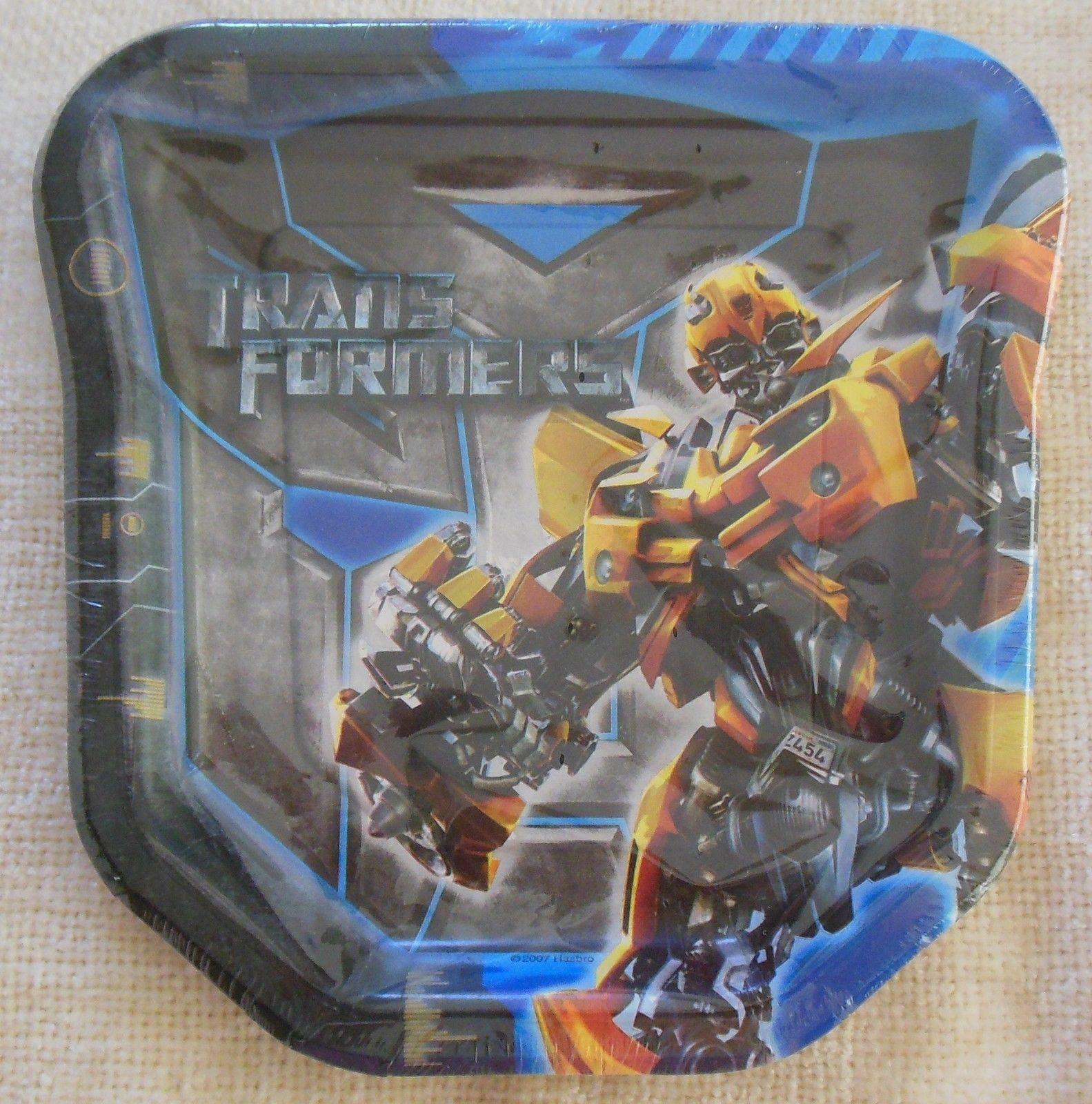 Transformers Dessert Plates 8 per Package