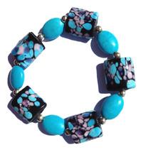 Reiki Infused Turquoise Gemstone, Hand Painted ... - $15.95