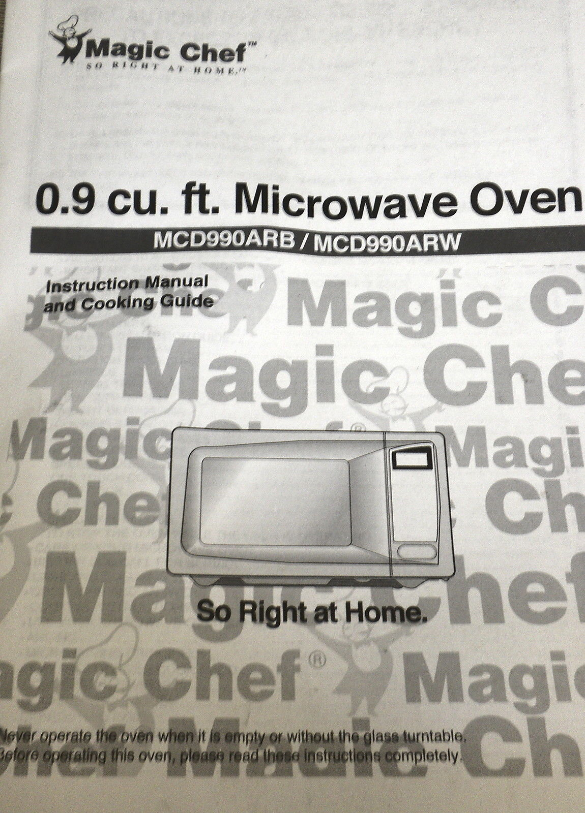 Magic Chef White 7 1/2