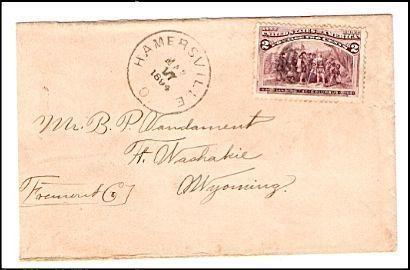 1894 Hamersville OH Vintage Postal Cover