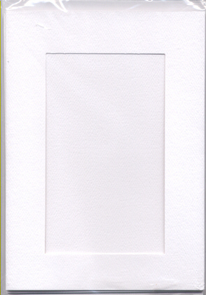 White Rectangular Large Needlework Cards 5x7 cross stitch