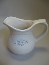 Pfaltzgraff Creamer Pink Peach White Flowers Remembrance Discontinue 1988-2010 - $9.95