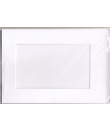 White Rectangular Large Needlework Cards 5x7 cross stitch - $5.00